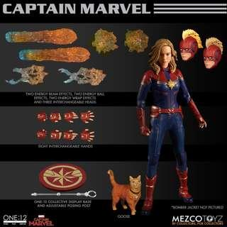 [hktoybox]預訂 Mezco One:12 Captain Marvel DC Marvel Legends SHF Mafex Neca Select
