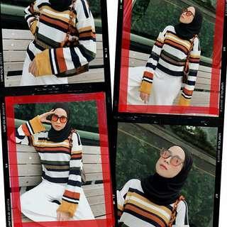 Millie Oversize Knit Stripe