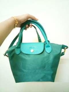 Green Turqoise Longchamp Neo Small Sling Bag