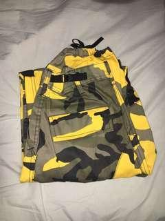 Black & Yellow Camo Pants
