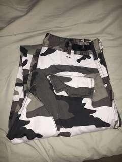 Black & White Camo Pants