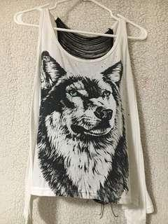 Open Back Wolf Top