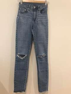 Nobody denim cult skinny distressed jeans size 7