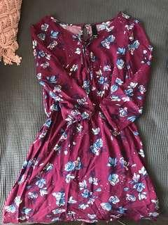 Plum coloured dress