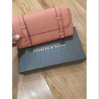 Charles & Keith Peach Wallet