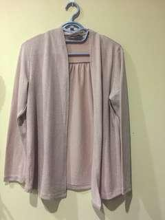 Light pink Cotton cardigan size L
