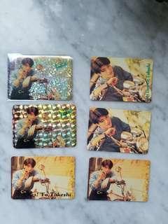 【包郵】金城武Yes Card 6張(Takeshi Kaneshiro)