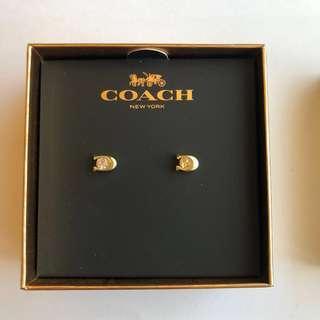 🚚 經典 Coach耳環