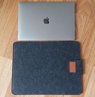 Felt Sleeve Case Dark Gray for Macbook Pro/Air 11/13/15 inch
