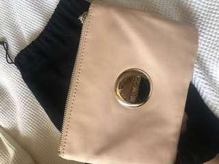 Mimco medium sized pink clutch