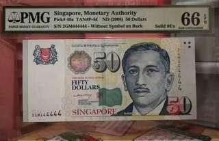 新加坡50 dollars 全4