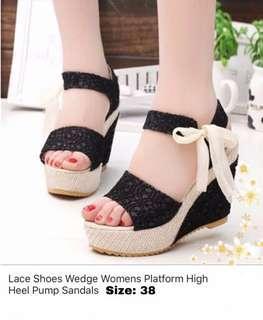 Lace and Ribbon Wedges