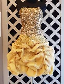 SALE!!! Gold Sparkling mini dress