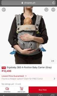 Original ergo baby carrier