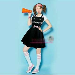 🚚 韓式圍裙可愛萌卡通貓咪小清新日本森女美甲店美髮店美容院餐廳幼兒園圍裙綁帶蝴蝶結