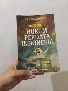 Buku Pokok-pokok Perdata Hukum Indonesia