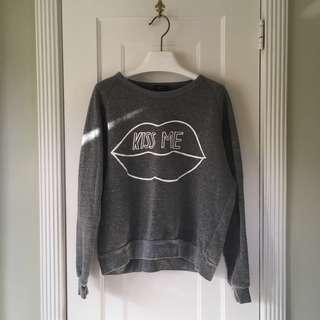 Topshop Kiss Me Pullover Sweater