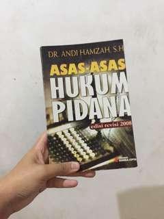 Buku Asas-asas Hukum Pidana