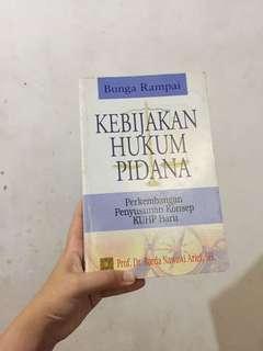 Buku Kebijakan Hukum Pidana