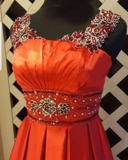 Chili Red long dress