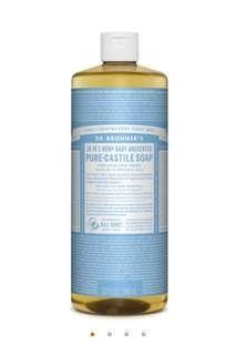 🚚 (Pre-order) Dr Bronner's Pure Castile Liquid Soap 32oz/946ml