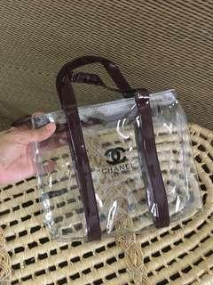 Ready stock: (Small) Chanel Complimentary Transparent zipper Closure