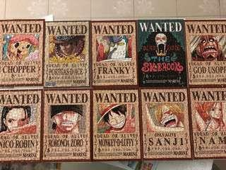 🚚 One piece wanted poster jigsaw puzzle