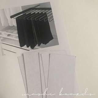 🚚 cardboard washi boards
