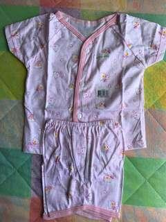 Pink baby clothes set