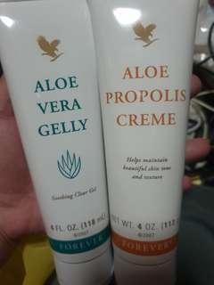 Aloe Vera Gelly and Aloe Propolis Creme
