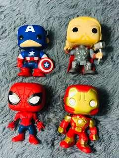 Ironman, Black Panther, Thor, Spiderman, Captain America, Flash and Batman Marvel Justice League
