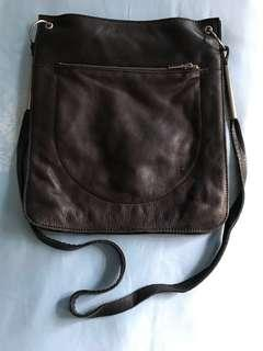COS leather sling bag