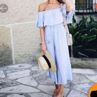 Powder Blue Summer Jumpsuit