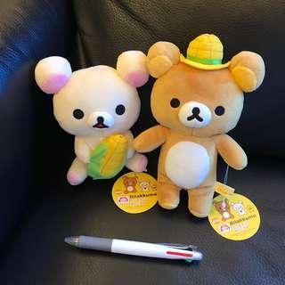 全新正貨鬆弛熊 一對 Rilakkuma 輕鬆小熊 白熊 公仔 毛公仔 情人節禮物