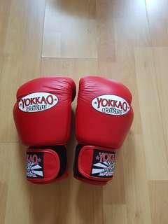 Red yokkao boxing gloves 12 0z