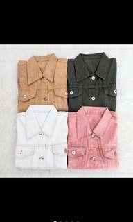 🌸AT1126 Ziena Basic Jeans Jacket🌸