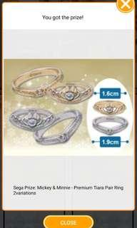 ✨TOREBA✨Disney Mickey & Minnie⚠️SILVER⚠️Couple ring