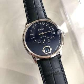 Chanel Monsieur 1 blue dial limited 20pcs 白金white gold