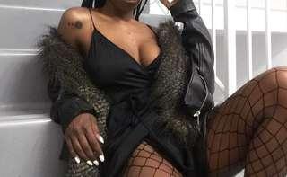UO Little Black Wrap Dress