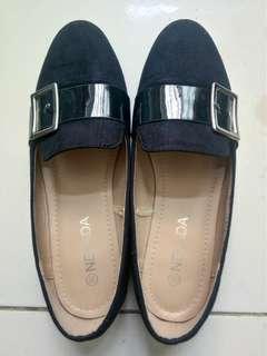 Navy Flat Shoes NEVADA