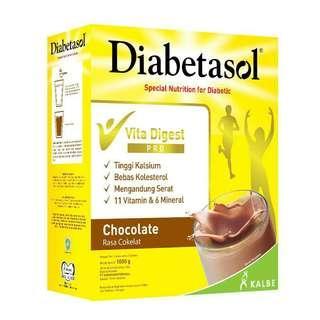 Diabetasol Susu Coklat 1000 gr / 1 kg