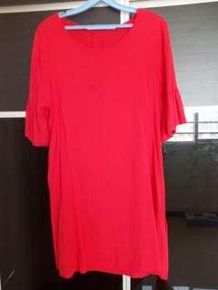 Preloved Ladies Red Dress