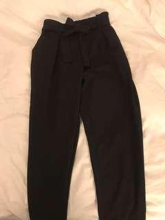 Black Tie up Pants