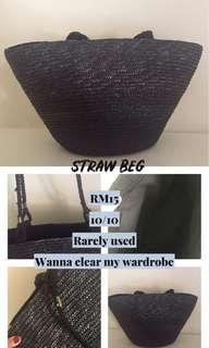 Straw beg