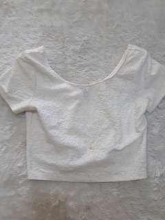 H&M WHITE CROP TOP
