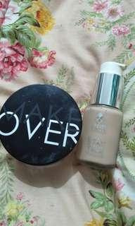 Make Over Translucent Powder (Shimmer) & Caring Color Foundation