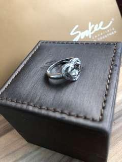 "🚚 Soo Kee heart shape "" flying "" diamond ring"
