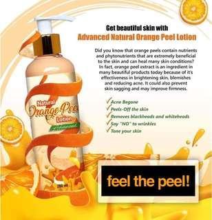 New & Improved Orange peel lottion