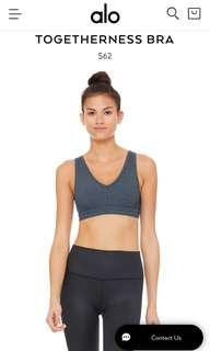 🚚 ALO YOGA TOGETHERNESS BRA in ECLIPSE HEATHER