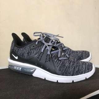 Nike Airmax Sequent 3 Running Shoes - Black Dark Grey